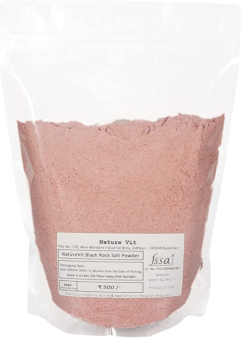 Saty mart NatureVit Black Rock Salt Powder Super special price Sulphu All Kg 1 Natural