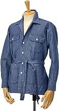 ORIAN【オリアン】ベルテッドサファリシャツジャケット LARMY D569 22E リネンコットン インディゴ