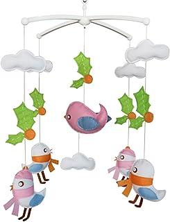 Oiseaux mignons Cloche de lit Cadeaux faits à la main Mobile bébé berceau jouet coloré Jouet à suspendre