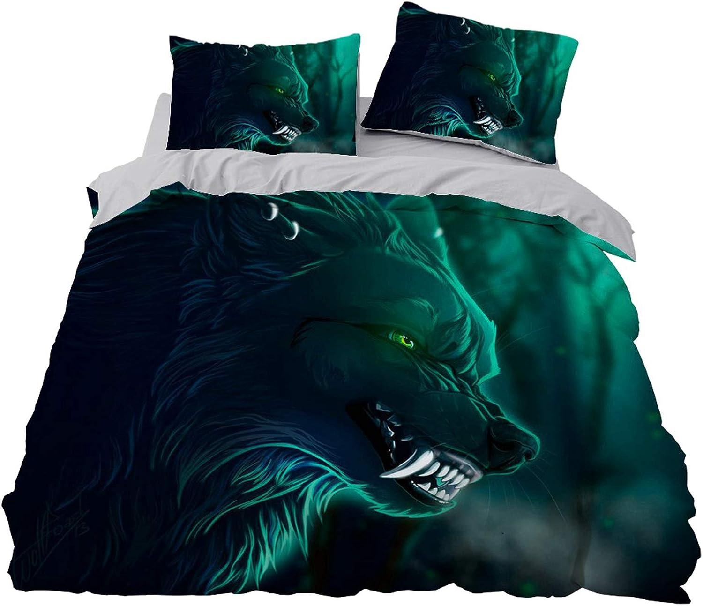 3D Black Boston Mall Wolf Detroit Mall Bedding Sets for Kids Animal Safari Cover Se Duvet