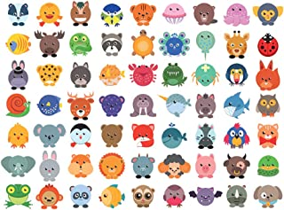 Animal Stickers for Baby Showers or Kids Crafts (Cute Animals)