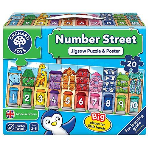Orchard Toys 231 Number Street Jigsaw Puzzle, Mehrfarbig, Einheitsgröße