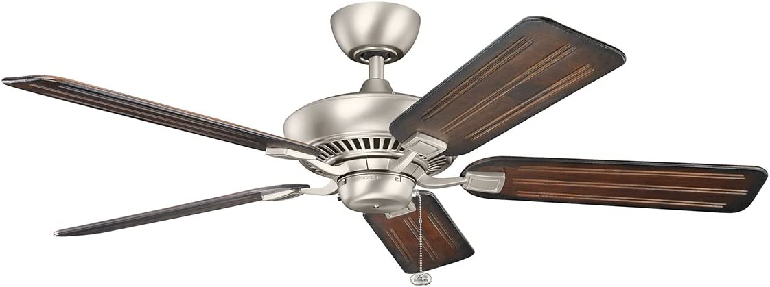 Kichler 300117NI 52-Inch Canfield Brushed Limited price Fan NEW before selling ☆ Nickel