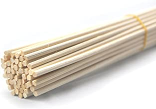 Ougual 50 Pieces Natural Rattan Reed Diffuser Refill Sticks for Aroma (30cm*4mm, Natural Colour)