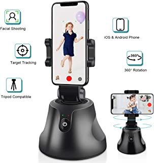 Gimbal Stabilizer Tripod, NEWXLT Phone Mount Holder, Selfie Stick Robot Cameraman, 360°Rotation Auto Face Object Tracking Smart Shooting Video Vlog Helper for All iOS and Android Phones