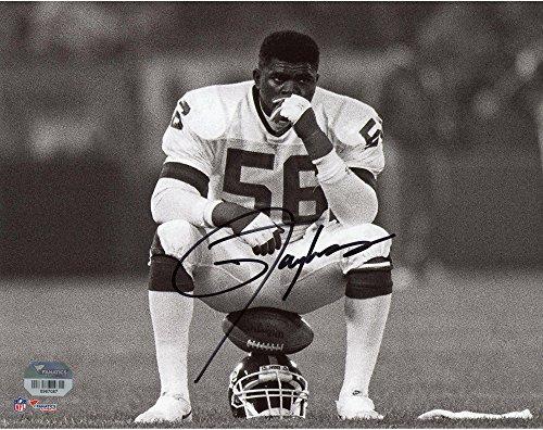 "Lawrence Taylor New York Giants Autographed 8"" x 10"" Helmet Sit Photograph - Autographed NFL Photos"