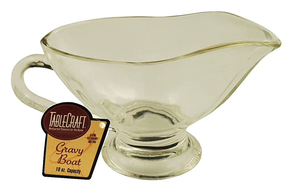 Tablecraft 10 Oz Glass Gravy Boat