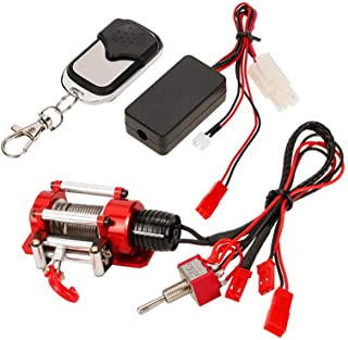 Wenini Wireless Remote 1/10 Crawler Winch Wired Automatic Winch Control System and Wireless Remote Receiver for 1/10 Car f...