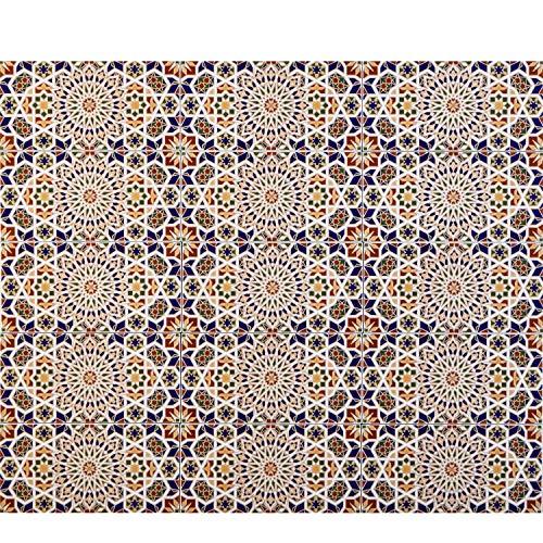 Casa Moro Marokkanische Keramikfliese orientalisch Rabab 30x15 cm 0,99 m² Mosaik-Muster | Maurische Fliese | Schöne Wandfliesen für Küche Bad & Küchenrückwand | FL2090