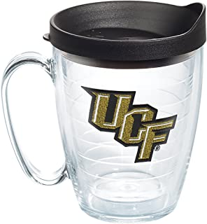Tervis UCF Knights Primary Logo Tumbler with Emblem and Black Lid 16oz Mug, Clear