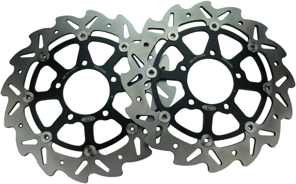 Mallofusa Rear Brake Disc Rotor Compatible for Kawasaki NINJA ZX6R 636 2003-2011 Z1000 2003-2006 ZX10R 2004-2007