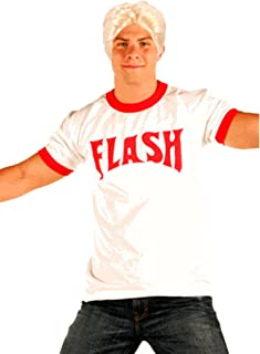 Flash Gordon Men's Logo Ringer T-Shirt Blonde Wig Costume Set