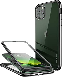 SupCase [Unicorn Beetle Electro Series Designed for Apple iPhone 11 Pro Max 2019 6.5 inch Case, Metallic Electroplated Edges, Slim Full-Body Protective Case with Built-in Screen Protector (Black)