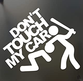 Hot Sale Don't Touch My Car Pattern Sticker 15cm X 12cm DIY Bumper Window Funny Personality Waterproof Decal Decor (White)