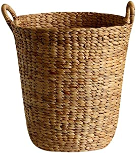 ZXY-NAN Aufbewahrungsbox Simple Hamper Original Material Loading Basket with Ear Woven Storage Basket Does Not Scrape The Basket, 34 34cm Storage Chests Furniture