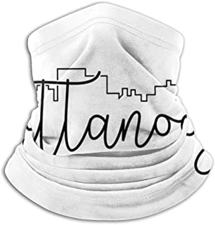 Cityscape Outline Chattanooga Neck Gaiter, Headwear, Face Sun Mask, Magic Scarf, Bandana, Balaclava, Headband for Fishing, Motorcycling, Running, Skateboarding, Moisture Wicking UV Protection
