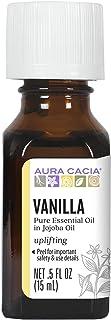 Aura Cacia Vanilla Essential Oil in Jojoba Oil | GC/MS Tested for Purity | 15ml (0.5 fl. oz.)