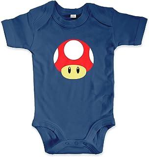 net-shirts Organic Baby Body mit Toad Red Aufdruck Spruch lustig Strampler Babybekleidung aus Bio-Baumwolle mit Zertifikat