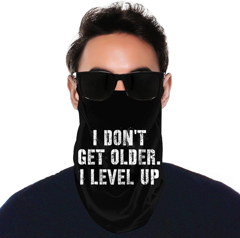 AIMILUX Adult Neck Gaiter Anti-Dust Windproof I Don't Get Older I Level Up 4 Black