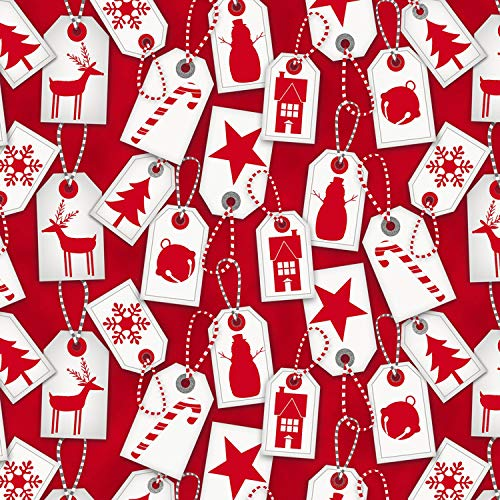 1 Yard Frosty Friends Flannel Christmas Fabric by Jan Shade Beach from Henry Glass 100% Cotton Flannel Quilt Fabric F6980 88 red Tags