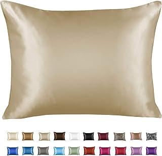 Shop Bedding Luxury Satin Pillowcase for Hair - Satin Pillowcase with Zipper - Blissford Queen (1-Pack) Beige 4100QCHM
