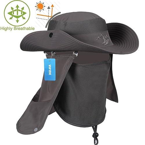 be3f18cd VIFINE Sun Cap Fishing Hat for Men Women, Sun Hat Wide Brim, Sun Protection