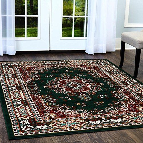 "Home Dynamix Sakarya Traditional Area Rug, 7'8""x10'7"" Rectangle, Green"