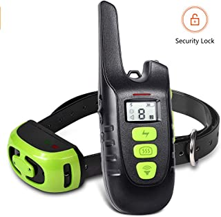 YISENCE Shock Collar for Dogs, Dog Training Collar, Waterproof and Rechargeable Dog Shock Collar with Remote 1500FT, 3 Modes Beep Vibration and Shock, Dog Shock Collar for Small, Medium, Large Dogs