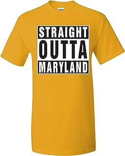 ZoDong Adult Novelty Straight Outta Maryland Funny Novelty Parody T-Shirt Gold