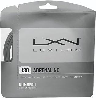 Wilson LUXILON Adrenaline 130 Tennis String, Platinum, 16-Gauge