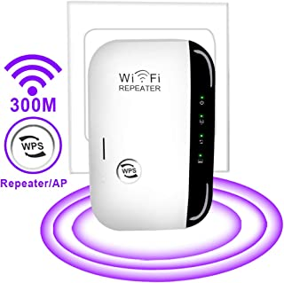 WiFi Extender - Mini WiFi Extender 2.4GHz Band Up to 300 Mbps,Wireless Repeater with WPS Internet Signal Booster,Best Range Network/Compatible with Alexa/Extends WiFi to Smart Home/Alexa Devices