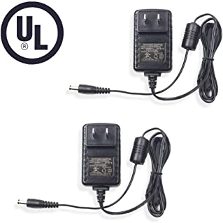 Bechol 2Pcs 12V 500mA Power Supply AC to DC Adapter Charger, 5.5mm x 2.1mm for CCTV Security Camera DVR, LED String Light UL