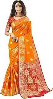 فستان ساري هندي تقليدي تقليدي تقليدي ناعم من الحرير مع بلوزة قطعة ملابس احتفالية رسمية 6052