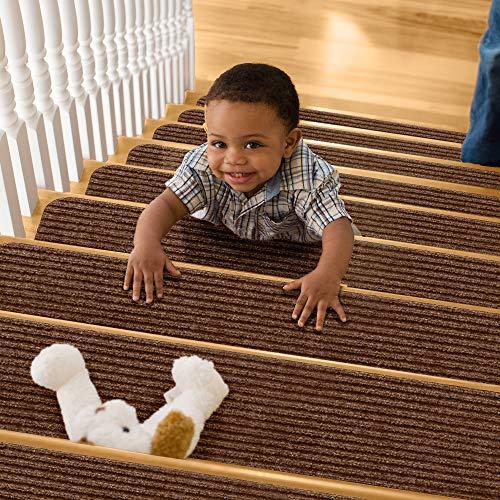 TreadSafe Carpet Stair Treads Non-Slip | 8