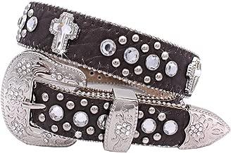 1371 Womens Cross Western Belts Cowgirl Bling Belts Rodeo Belts Plus Size Western Belts For Cowgirls