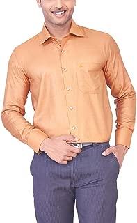 MARK ANDERSON Men's Raw Silk Gold Colour Shirt