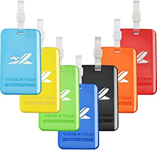 Sponsored Ad - Bright Colorful Luggage Tags, Soft Assorted Suitcase Luggage Bag Tags by Aphlos (7 Colors)
