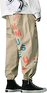 Irypulse Unisex Cargo Pantalones Combate Trousers Graffiti Impresión Casual Moda Ropa Calle Pants para Hombres Mujeres Jóv...