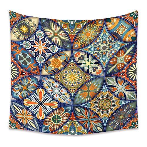 KHKJ Mandala Hippie Indio Bohemio Tapiz Colgante de Pared psicodélico Decorativo Revestimiento de Pared Tela Manta de Pared A13 95x73cm