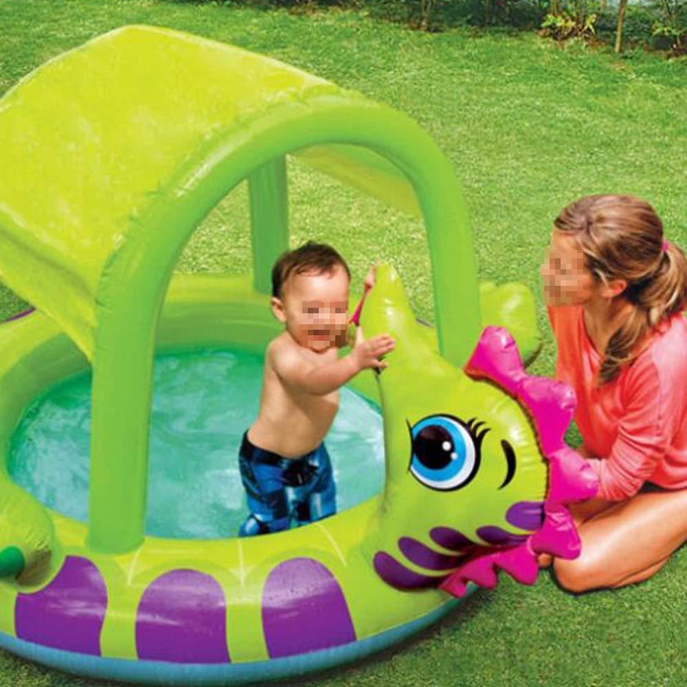ZY Piscina Inflable para bebés con sombrilla Piscina para niños ...