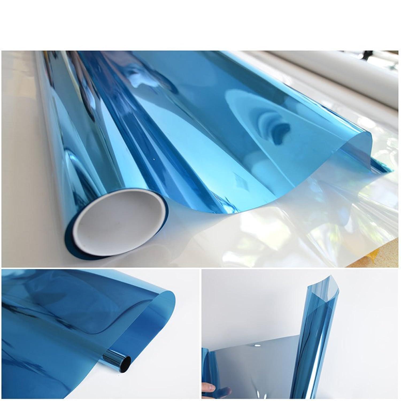 YETUGE窓ガラスフィルム 窓 UVカット 飛散防止 遮熱 目隠し 建築ガラスフィルム 建物ガラスフィルム UVカット  遮光 ブルーシルバー