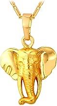 U7 Lucky Elephant Pendant 18k Gold Plated/Platinum Plated Rhinestone Crystal Necklace