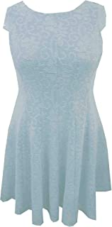 ivory lace fit and flare dress