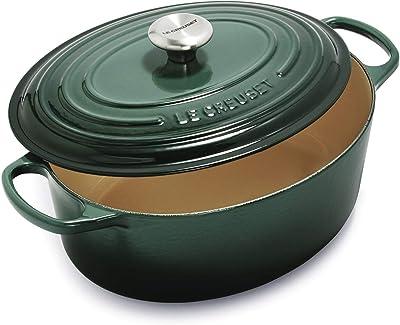 Le Creuset Signature Enameled Cast-Iron 6.75 Quart Oval Dutch Oven, Artichaut