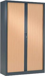 Armoire à rideaux ignifuge M1 | Anthracite | Hêtre | HxLxP 1980 x 1200 x 430 | Pierre Henry -