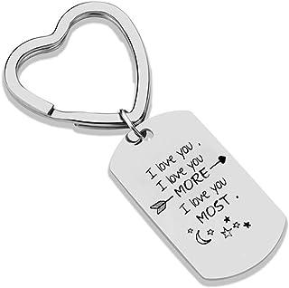 Mère /& Fille Porte-clés Love Forever Maman Fille Cadeau d/'anniversaire /& Organza Sac