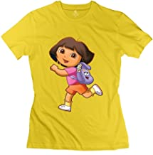 StaBe Women Dora Explorer T-Shirt O Neck Geek S Yellow