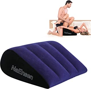 NaEnsen Sex Toys Wedge Pillow Position Cushion Triangle Inflatable Ramp Furniture Couples Toy Positioning for Deeper Posit...