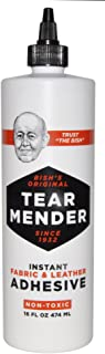 Tear Mender TM-16-EA Instant Fabric and Leather Adhesive, 16 Oz Bottle, Tg-16