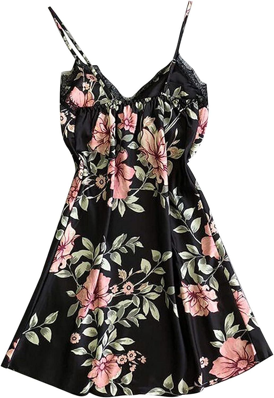 Women Sexy Lingerie Chemise Satin V-Ne Slips Mesa Mall Silk Outlet SALE Lace Nightwear